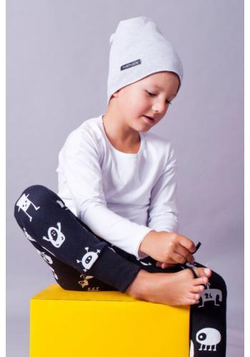 Detská letná čiapka vo svetlo sivej farbe s logom