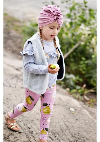 Dievčenská vesta z ekologickej kožušiny s krátkym vlasom v sivej farbe