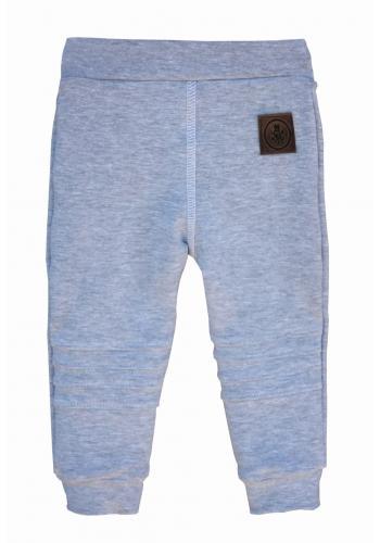 Svetlo sivé nohavice pre deti s logom