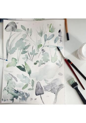 Zamatový vankúš - oblak v sivej farbe - šalvia zelená