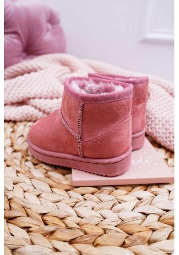 Ružové oteplené snehule pre deti
