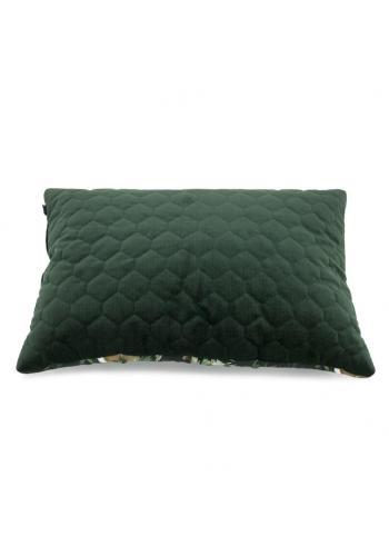Zamatový detský vankúš - zvieratá/tmavo zelená