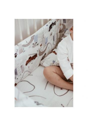 Detské prestieradlo s gumkou na posteľ - autá
