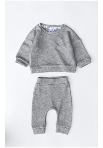 Detské tepláky v sivej farbe