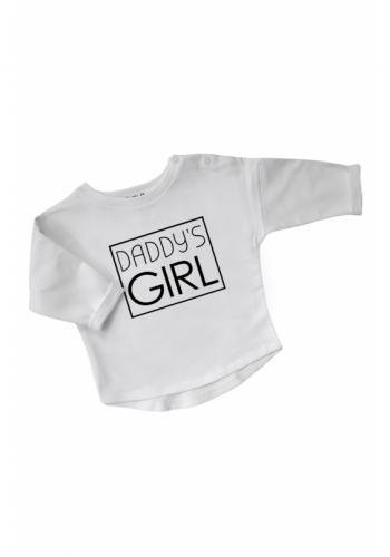 """Biela bavlnená mikina s nápisom """"daddy's girl"""" pre dievčatá"""