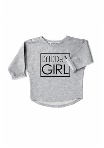 """Sivá bavlnená mikina s nápisom """"daddy's girl"""" pre dievčatá"""