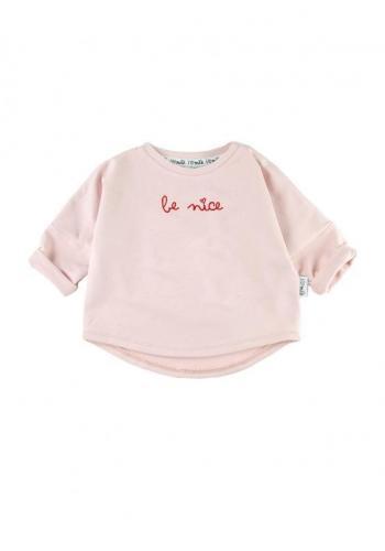 """Zostava mikín pre mamu a dieťa s nápisom """"be nice"""" v ružovej farbe"""