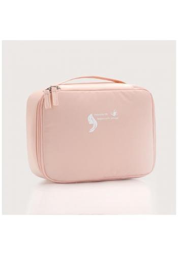 Kozmetická dámska taška ružovej farby