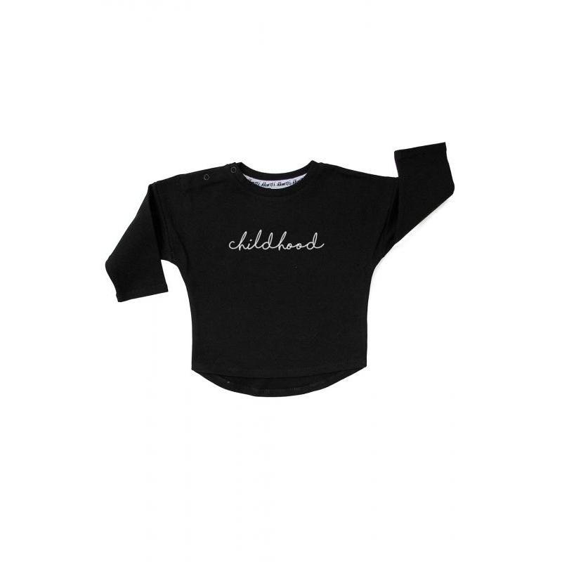 Zostava mikín pre mamu a dieťa čiernej farby s nápisom MOTHERHOOD/CHILDHOOD