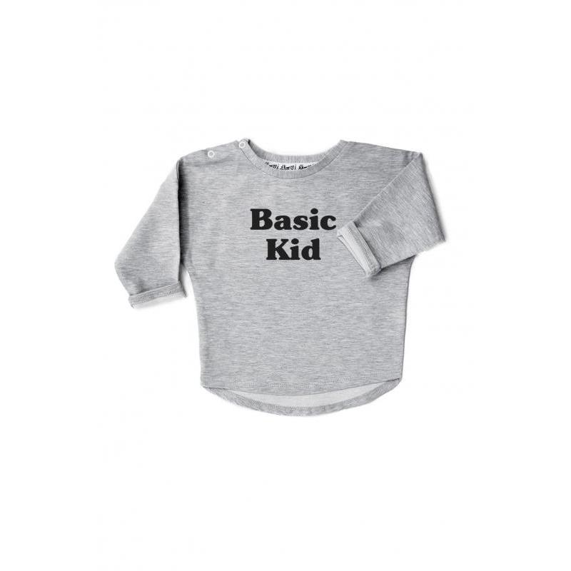 Zostava mikín pre mamu a dieťa sivej farby s nápisom BASIC MOM/KID