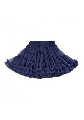 Dievčenská sukňa tmavo modrej farby