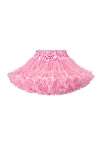 Tylová sukňa v svetlo ružovej farbe