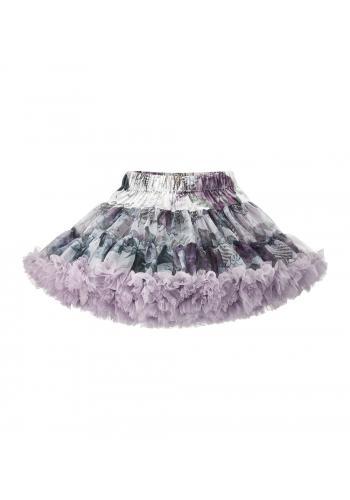 Svetlo fialová dievčenská sukňa s potlačou
