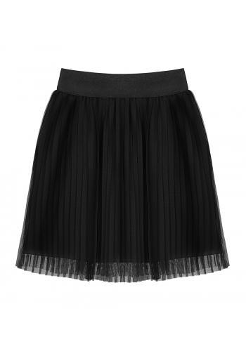Dámska skladaná sukňa čiernej farby