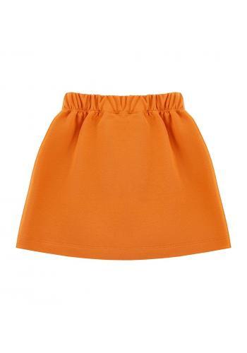 Tepláková sukňa oranžovej farby pre dievčatá
