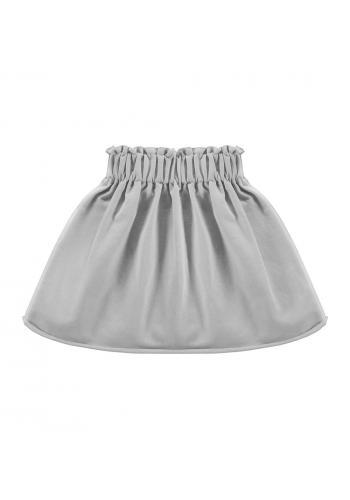 Šedá sukňa pre dievčatá