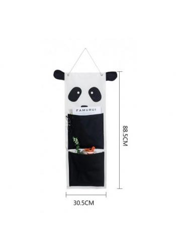 Závesný organizér na hračky bielo/čierna - panda