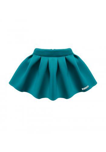 Dievčenská sukňa v tmavo zelenej farbe