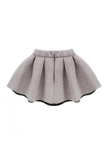 Sukňa pre dievčatá v sivo-ružovej farbe melanž