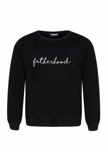 """Čierna mikina s nápisom """"fatherhood"""" pre pánov"""