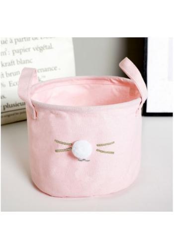 Kôš na hračky ružový - myška