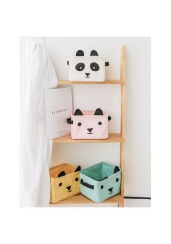 Kôš na hračky biely - panda