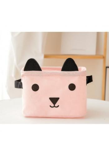Kôš na hračky svetlo ružový - mačka