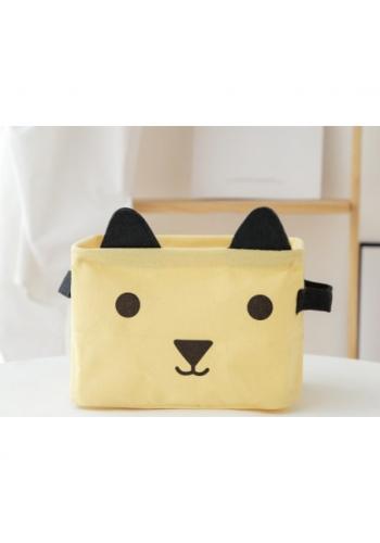 Kôš na hračky svetlo žltý - mačka
