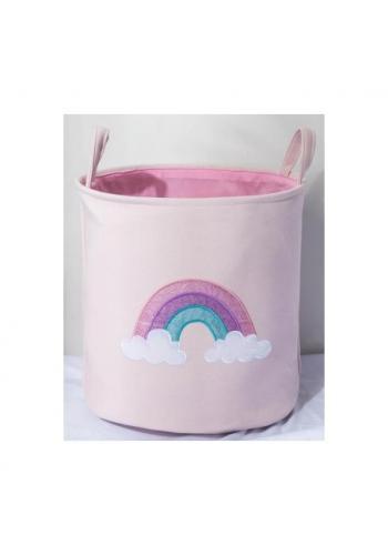 Kôš na hračky ružový - dúha
