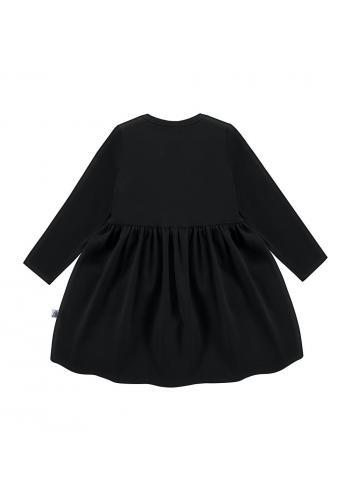Čierne šaty s dlhým rukávom pre dievčatá