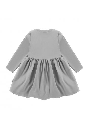 Šaty pre dievčatá v šedej farbe s dlhým rukávom