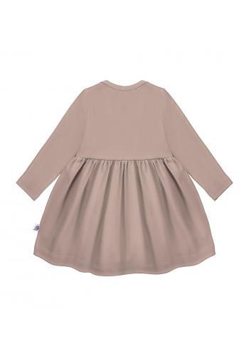 Šaty pre dievčatá s dlhým rukávom v svetlo fialovej farbe