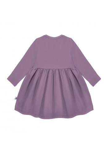 Dievčenské šaty pre dievčatá fialovej farby s dlhým rukávom