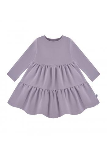 Svetlo fialové šaty pre dievčatá s dlhým rukávom