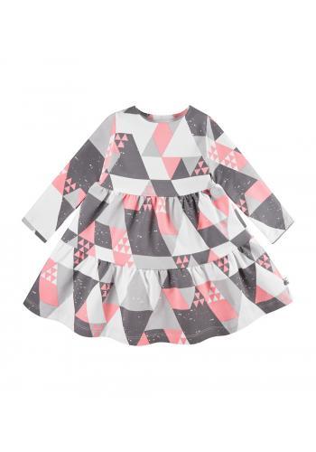 Farebné šaty s trojuholníkovou potlačou