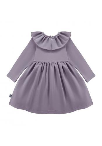 Dievčenské šaty v svetlo ružovej farbe s volánikmi