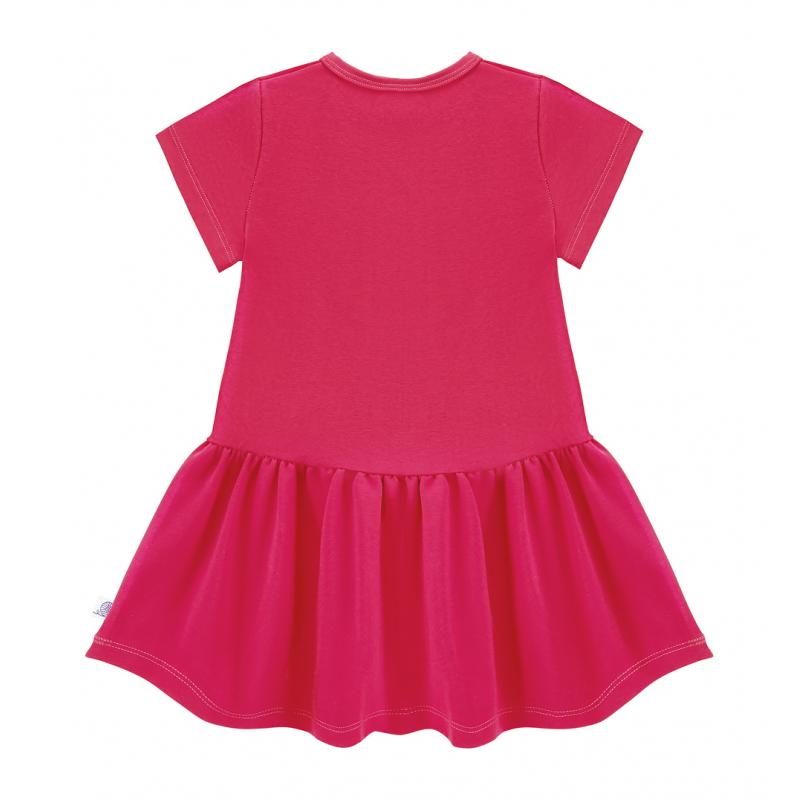 Šaty s krátkym rukávom ružovej farby
