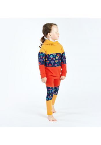 Bavlnená tepláková súprava pre dievčatá trojfarebná
