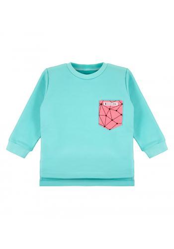 Tyrkysovo-ružová tepláková mikina pre dievčatká