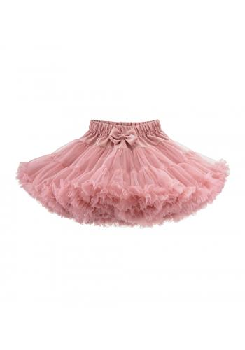 Dievčenská tylová sukňa v ružovej farbe