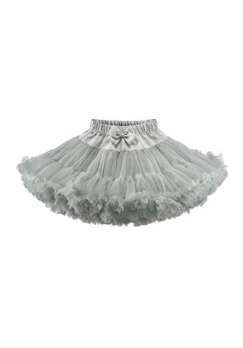 Tylová sukňa pre dievčatá vo svetlo sivej farbe