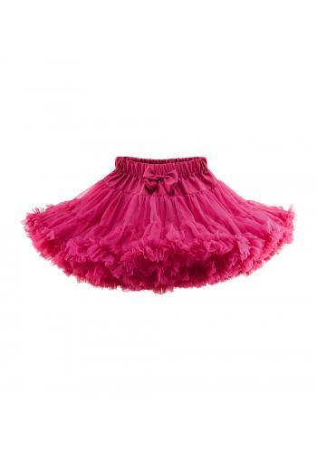 Dievčenská sukňa v malinovej farbe