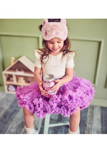 Tylová dievčenská sukňa v ružovo-fialovej farbe