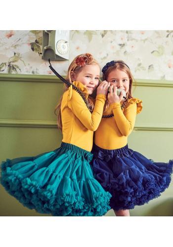 Smaragdová sukňa pre dievčatá