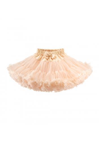 Tylová sukňa v broskyňovej farbe pre dievčatá