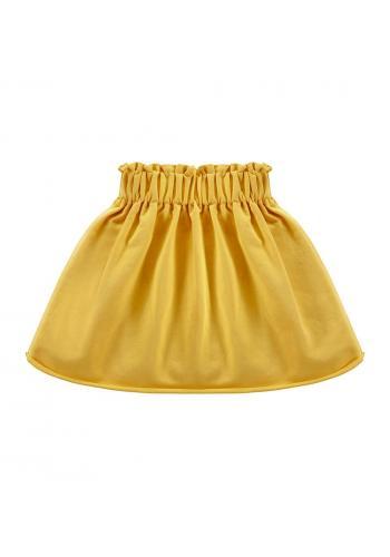 Dievčenská sukňa žltej farby