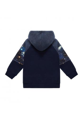 Bavlnená tepláková mikina s motívom vesmíru pre chlapcov