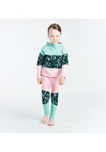 Bavlnené dievčenské legíny v pastelových farbách s potlačou
