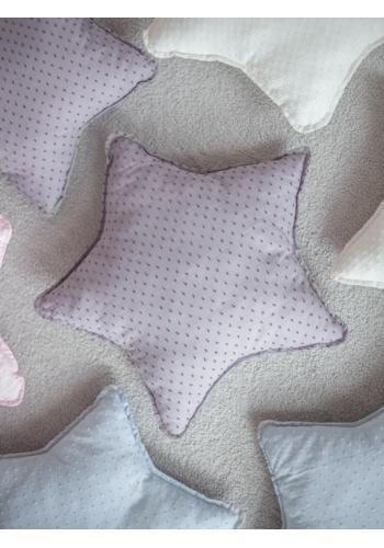 Vianočný bavlnený vankúšik v ružovej farbe