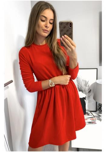 Dámske zamatové šaty v červenej farbe